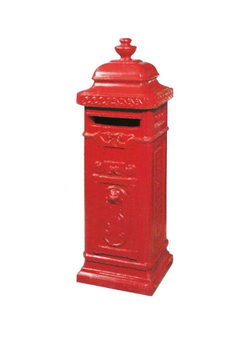 Betonnen brievenbus rood