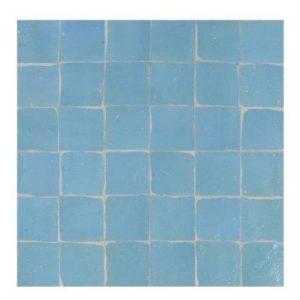 Marokkaanse handgemaakte zelliges blauw