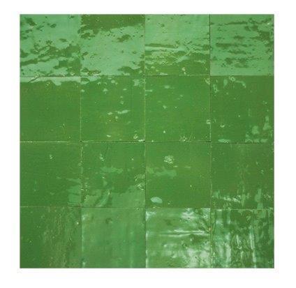 Marokkaanse handgemaakte zelliges groen