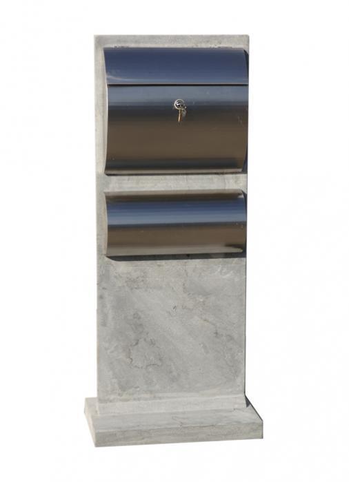 Strakke blauwsteen brievenbus - Model 29